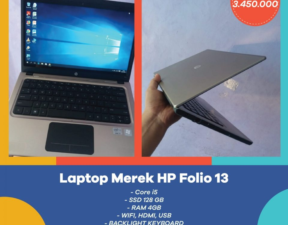 jual laptop merk HP second mulus sudah SSD