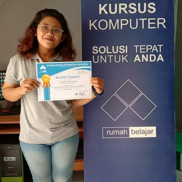 Terimakasih Mba Merry yang sudah menyelesaikan Program Kursus Komputer Untuk Perkantoran (Ms Office) di Kursus Komputer YMII Cileungsi