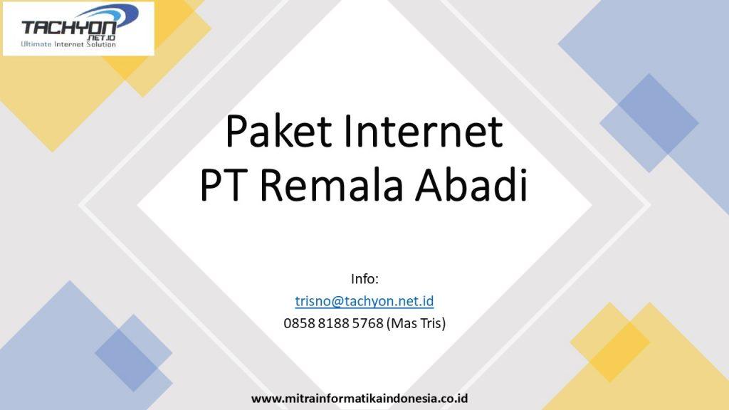 paket internet remala abadi fiber optik dan wireless