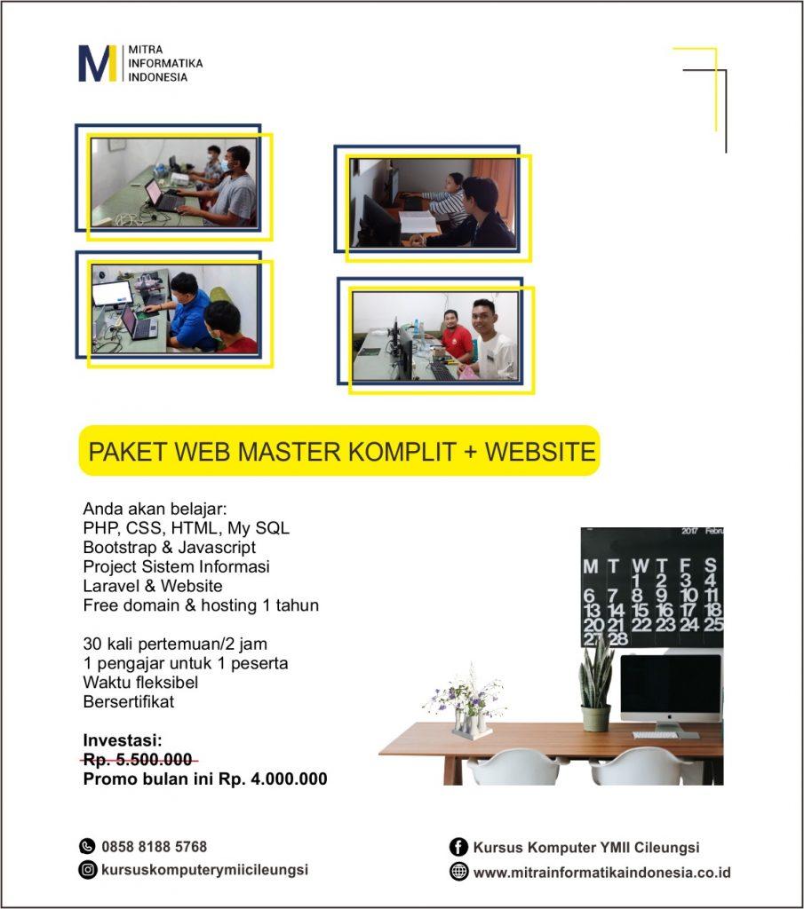 kursus web master komplit di ymii cileungsi