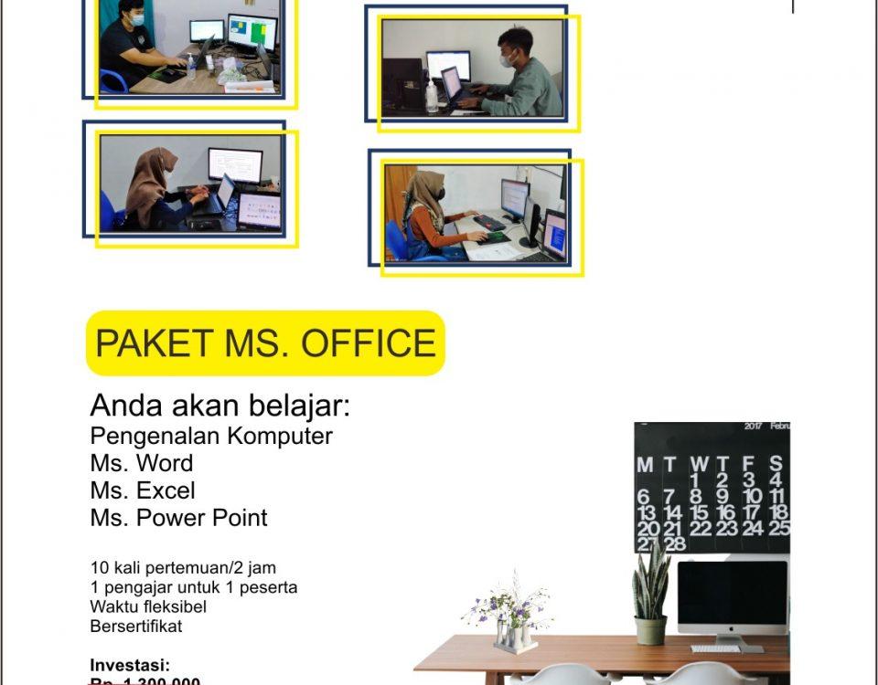 kursus komputer ms. office di ymii cileungsi