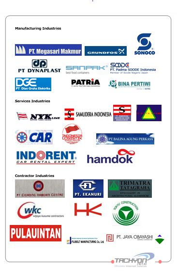 daftar klient internet fiber optik dan wireless PT Remala Abadi