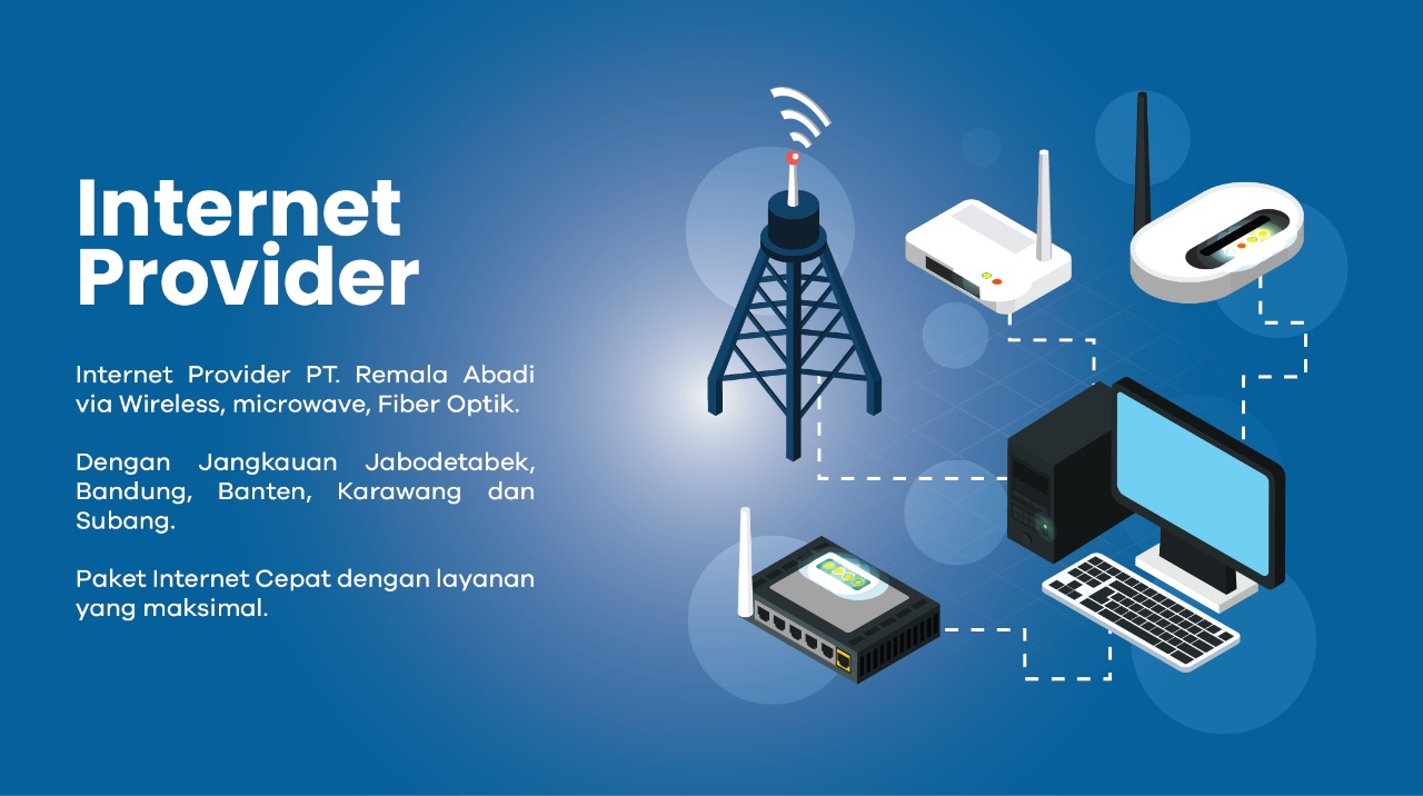 jasa internet provide PT Remala Abadi