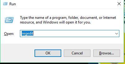cara buka registri melalui run dengan mengetik regedit