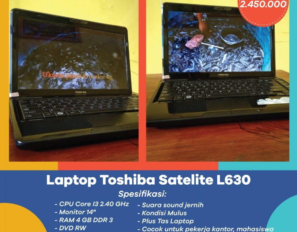 Dijual Laptop Toshiba Satelite L630 Murah dan Berkualitas