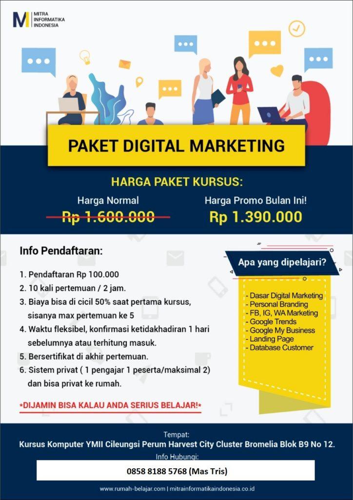 kursus digital marketing ymii cileungsi