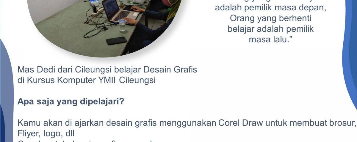 Tempat Belajar Desain Grafis di Kursus Komputer YMII Cileungsi untuk masyarakat Cileungsi, Gunung Putri, Setu, Jonggol, Cibubur, dan Sekitarnya