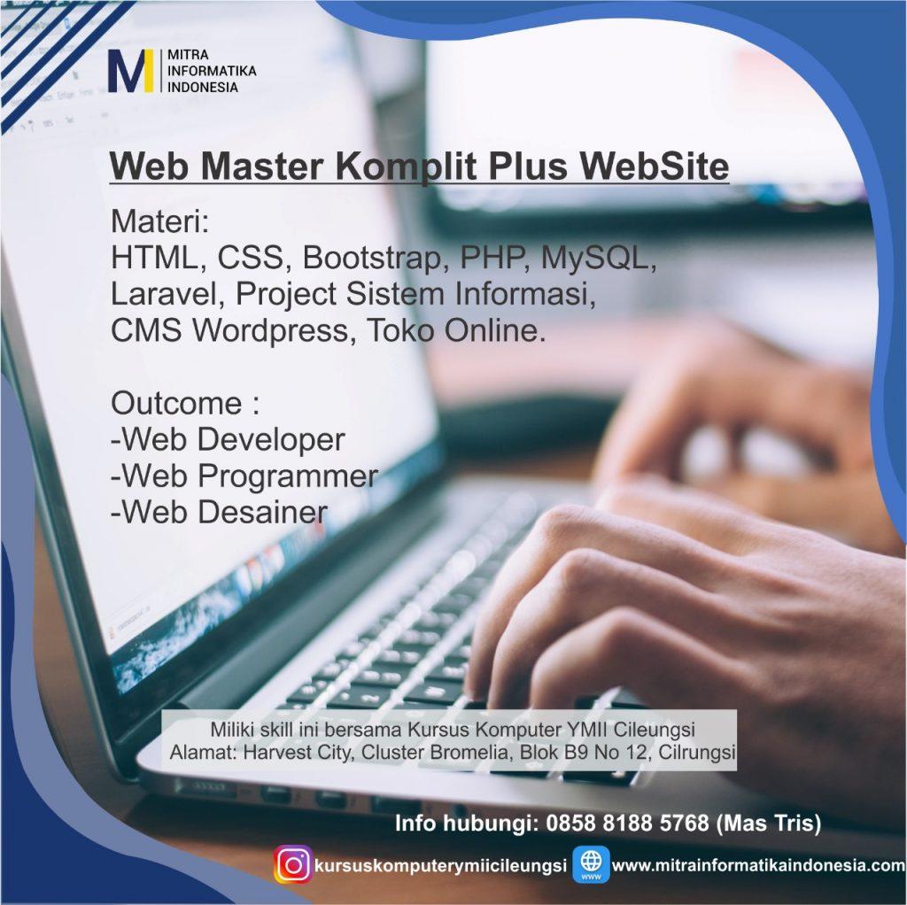 paket kursus belajar web desain dan web programming di cileungsi, cibubur, jakarta, bekasi, depok, bogor